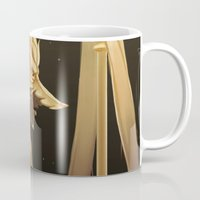 black and gold Mugs featuring Black & Gold by Cruz'n Creations