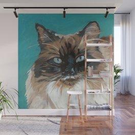 Tipper the Cat Portrait Wall Mural