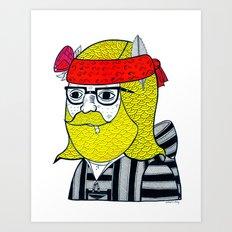 DRUG RUG PORTRAIT #1 Art Print