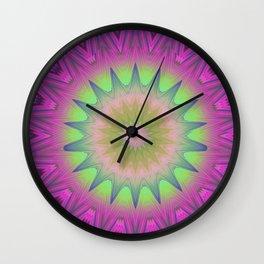 Cotton Candy Mandala Wall Clock