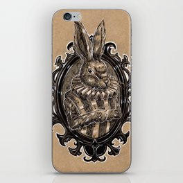 Rabbit Portrait iPhone Skin