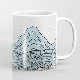 Early Morning Hills, Pastel Illustration Coffee Mug