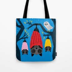 Bats in Blankets Tote Bag