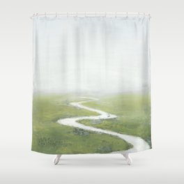 River, river Shower Curtain