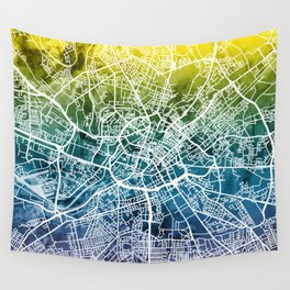 Manchester England Street Map Wall Tapestry