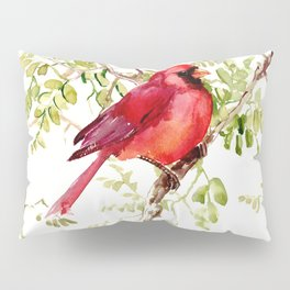 Northern Cardinal, cardinal bird lover gift Pillow Sham