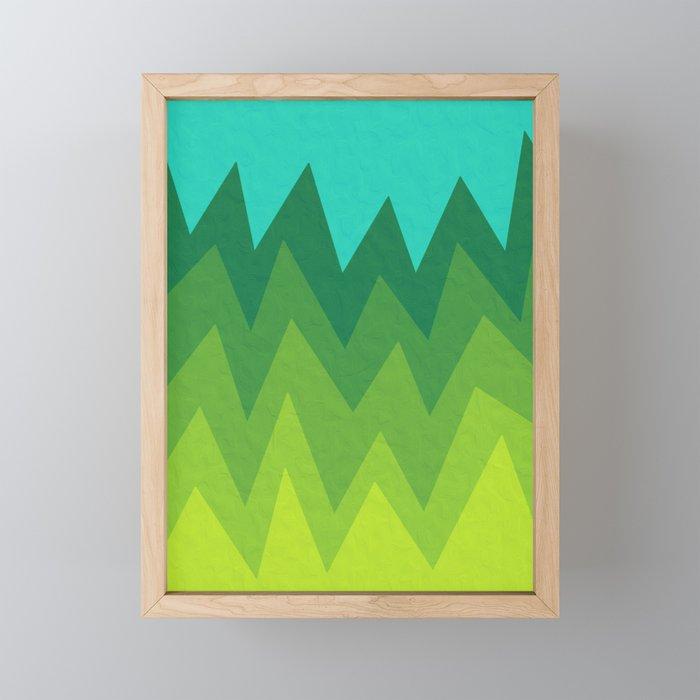Green Summer Forest Framed Mini Art Print