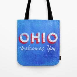 Vintage Ohio Welcome Sign Tote Bag