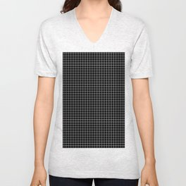 Windowpane Black Unisex V-Neck