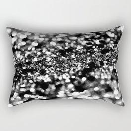 Black Lady Glitter #1 #shiny #decor #art #society6 Rectangular Pillow