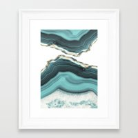 Framed Art Prints featuring Sea Agate by cafelab