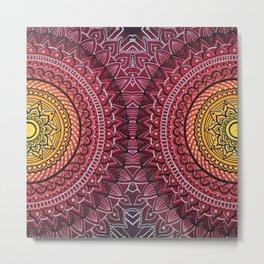 Mirror Mandala Metal Print