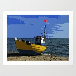 Fishermans boat Art Print