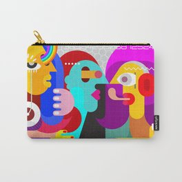 Three People Talking Carry-All Pouch
