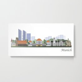 Munich skyline colored Metal Print