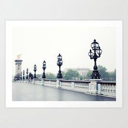 Paris, Pont Aleandre III Art Print