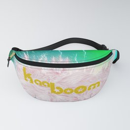 The explotion - neon and fur Fanny Pack