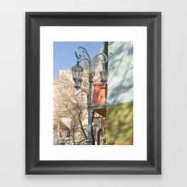 Street Lights of La Boca II Framed Art Print