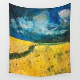 Yellow Fields Wall Tapestry