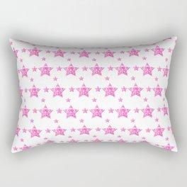 Fushcia Stars Rectangular Pillow