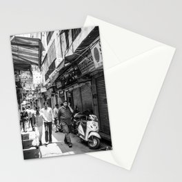 People walking in a street in Old Delhi, India Stationery Cards