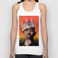 kendrick lamar Tank Tops featuring King Kendrick by Tecnificent
