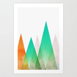 Top of a mountain Art Print