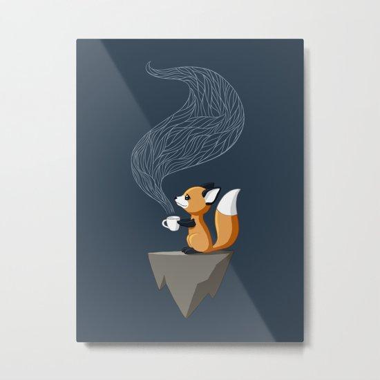Fox Tea Metal Print