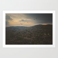 palestine Art Prints featuring Nablus, Palestine by ear2ear