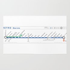Twin Cities METRO Blue Line Map Rug
