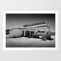50s Art Prints featuring 50s Garage by King Classics