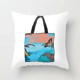 Butterfly Bag Throw Pillow