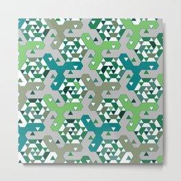 Geometric Mozaik (green) Metal Print