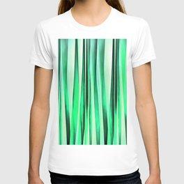 Turquoise Serenity Stripy Pattern T-shirt