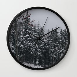Winter at Lonesome Lake Wall Clock