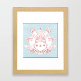 Fur Coat of Arms Framed Art Print