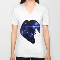 mass effect V-neck T-shirts featuring Mass Effect: Legion by Ruthie Hammerschlag