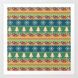 Christmas pattern II Art Print