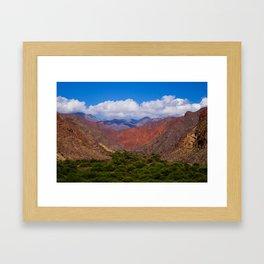 Valley of trees Framed Art Print