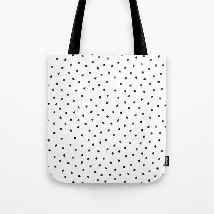 Black Cats Polka Dot Tote Bag By