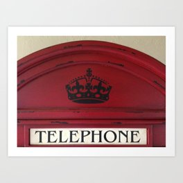 Telephone Top Art Print