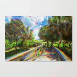 Trippy Walkway Canvas Print