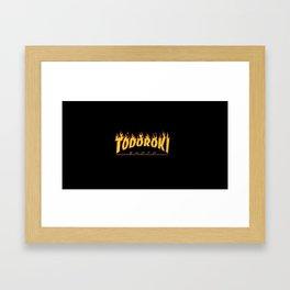 Todoroki Shoto Typo Framed Art Print