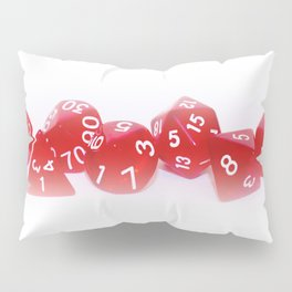 Red Gaming Dice Pillow Sham