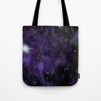 space jam Tote Bags featuring Jam Nebula by Erin McClain Beck