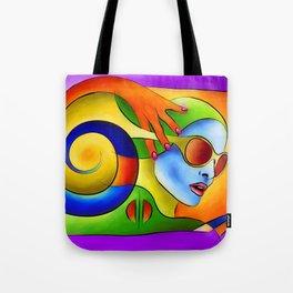 Fenimeussa - blue spiral beauty Tote Bag
