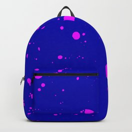 Fuchsia Spray Splatters on A Navy Blue Surface Backpack