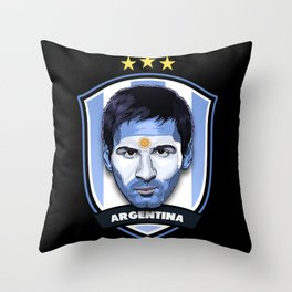 Messi Throw Pillow