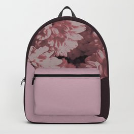 Pink mums geometrical collage Backpack