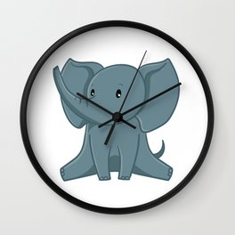 Elephant - Zoo Animals Wall Clock